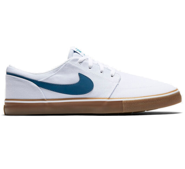 46612ea96161b Nike SB Portmore II Solar CNVS Canvas White/Blue Mens Skate Shoes 880268-149