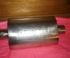 """Borla 40941 XR-1 Stainless Sportsman Racing Muffler Oval 2.5/"""" Inlet 2.5/"""" Outlet"""