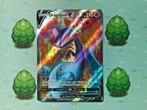 Full Art 183//192 SWSH Rebel Clash Pokemon Dragapult V