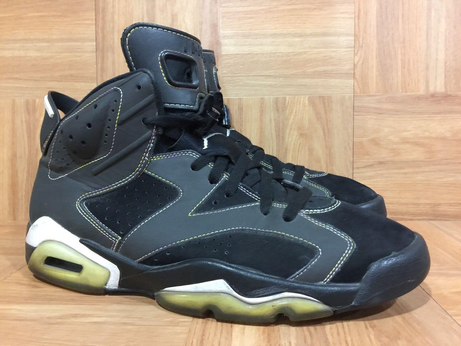 wholesale dealer dd03b 61daa RARE Nike Air Jordan VI 6 Retro Lakers Black Purple gold Sz 10 384664-002