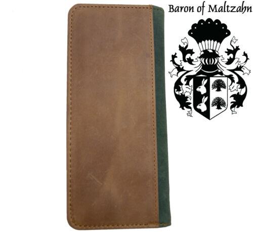 Kreditkartenmäppchen KONFUZIUS aus braunem Leder BARON of MALTZAHN