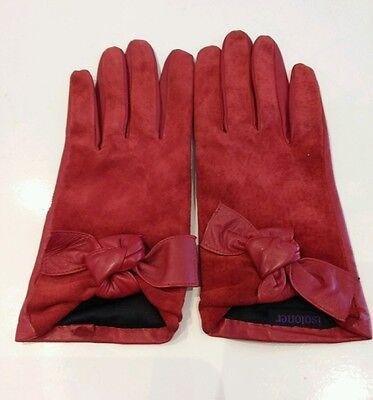 Attivo Guanti In Pelle Rossa Da Totes Isotoner Taglia M-mostra Il Titolo Originale Beneficiale Per Lo Sperma