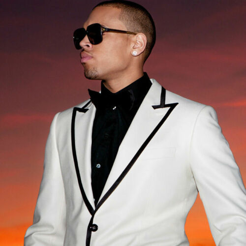 "Chris Brown  Music Star Fabric Wall Art Poster 13/"" x 13/"" C13"