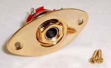 "OVAL GUITAR JACK PLATE & 1/4"" SOCKET / GOLD"