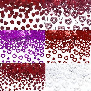 Konfetti Riethmuller Streudeko Geburtstag Tischdeko Herzen Rot Rosa