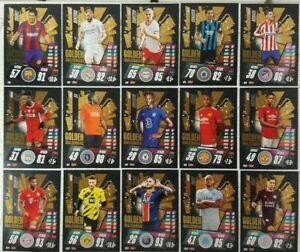 2020/21 Match Attax UEFA Champions - Golden Goalscorers Shiny Sub-Set 15 cards