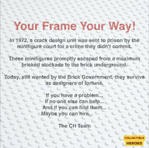 Display Case Frame for Lego Ninjago Movie Minifigures Minifigs figures