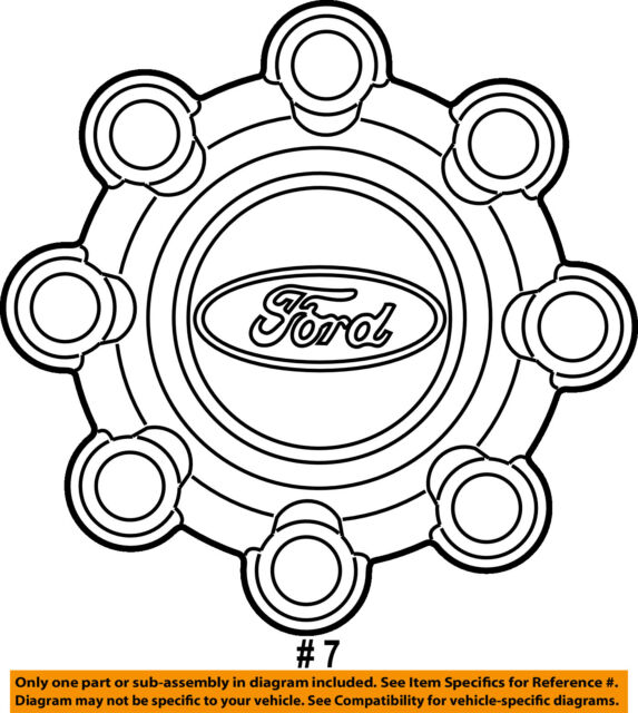 Ford Oem 03 07 F 250 Super Duty Wheel Cover Hub Center Cap
