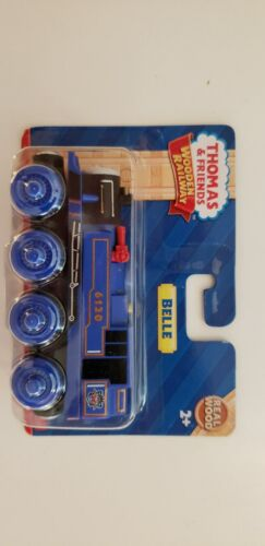 THOMAS /& FRIENDS WOODEN RAILWAY ~ BELLE ~ RARE BLUE WHEELS EDITION NEW IN BOX!