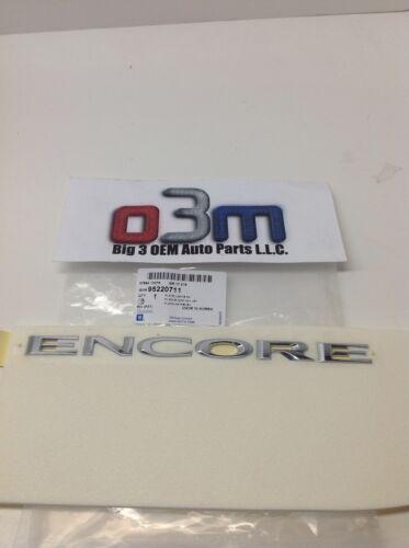 2013-2019 Buick Encore Chrome Rear Liftgate ENCORE NAMEPLATE EMBLEM new OEM