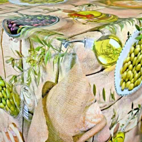 Wachstuch Tischdecke Olive Italien Ciabatta Sommer BC70 eckig rund oval