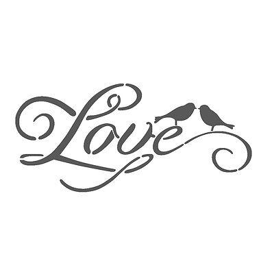 "WALL STENCILS PATTERN 12.99""x9.05"" Airbrush STENCIL LARGE TEMPLATE love 3089"