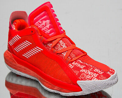 Adidas Dame 6 Men S Damian Lillard Solar Red White Basketball Sneakers Shoes Ebay