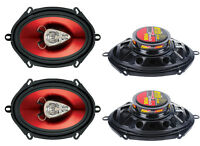 4) Boss Ch5730 5x7 600w 3-way Car Coaxial Audio Stereo Speakers Red 2 Pairs on sale