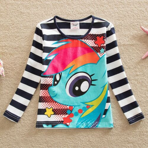 Girl Long Sleeve Clothes Kids 100/% Cotton T-Shirt Rainbow Children Clothing Tops