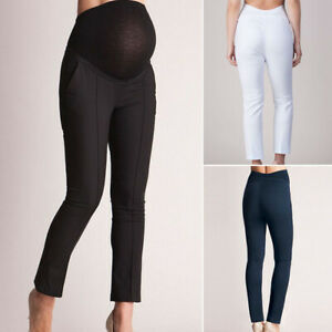Pregnant-Women-Stretchy-Leggings-Long-Pants-Maternity-Work-Cotton-Trousers-New