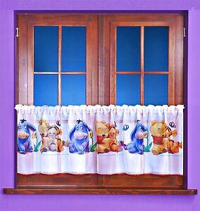 gardine top scheibengardine winnie pooh baby kinderzimmer disney 120x50 185x50 ebay. Black Bedroom Furniture Sets. Home Design Ideas