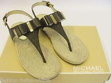 MICHAEL KORS Sandale + Logomuster + Schleife - 39.5 = US9 = UK 6.5 - MEG sandal