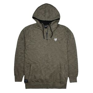 31c297096 Details about Zoo York - Mens - Zip Hoodie - Logo - Khaki - Sizes  S,M,L,XL,XXL
