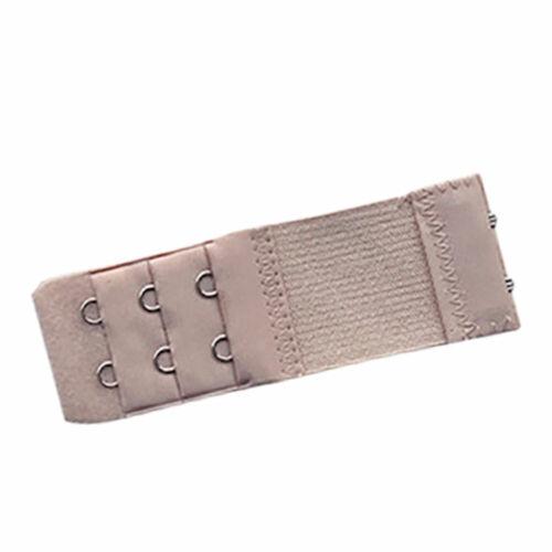 5Pcs 3 Row2 Hooks Soft Bra Extender Extension Elastic Back Clips Strap Strapless