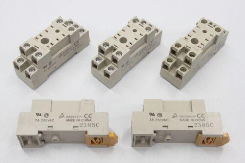 5x OMRON PYF-08A-N PYF 08A N 5A 250VAC Relaissockel unused