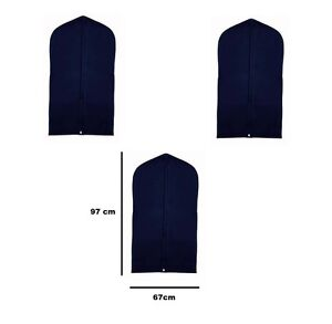 3-x-Suit-Cover-Protectors-Storage-Clothes-Hanging-Travel-Holder-Bag-ladies-NAVY