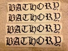 Bathory Band Logo Stickers 4 black die cut stickers  Black Metal Free Shipping