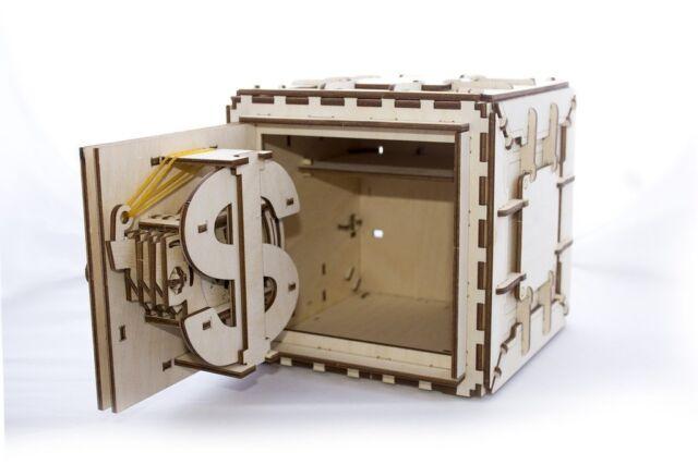 Ugears Safe Mechanical Wooden Model Kit 3d Puzzle Assembly