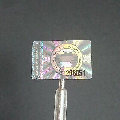 """""""made In Germany"""" Hologramm Etiketten Sticker 30x20mm Siegel Laufende Nummer"""