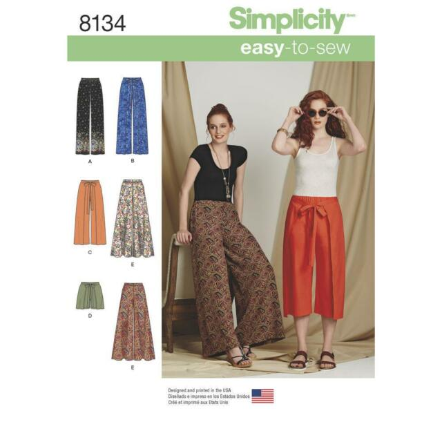 Misses Wide Leg Trousers Shorts Or Culottes Simplicity Sewing