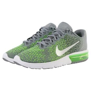 a325d6f563522 Nike Air Max Sequent 2 852461-003 GRAY/SILVER/ELECTRIC GREEN Men's ...