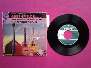Vinyl-7-45T-The-Brothers-Four-034-Verte-Campagne-034-Greenfields-Langu-VG