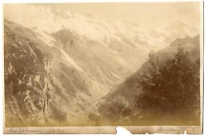 Suisse-Lauterbrunnen-Vintage-albumen-print-Tirage-albumine-14x22-Circ