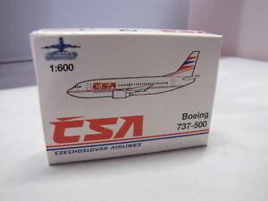 Art No. 945/143 SCHABAK - Boeing 737-500 CSA Czechoslovak Airlines - 1:600 - Stuttgart, Deutschland - Art No. 945/143 SCHABAK - Boeing 737-500 CSA Czechoslovak Airlines - 1:600 - Stuttgart, Deutschland