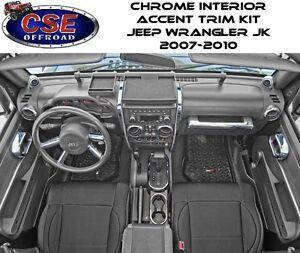 interior trim accent kit chrome jeep wrangler jk 2007 2010 rugged ridge ebay. Black Bedroom Furniture Sets. Home Design Ideas