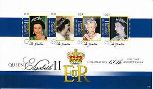 Gambia 2013 MNH Queen Elizabeth II Krönung 60th Anniv 4v M/S I Royalty Briefmarken