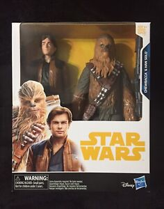 """RARE"" Hasbro Star Wars Chewbacca & Han Solo 10"" Toys R Us EXCLUSIVE Collectible"