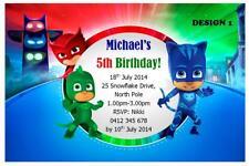 1 X PJ MASKS SUPERHERO CHILDRENS BIRTHDAY PERSONALISED INVITATIONS MAGNETS