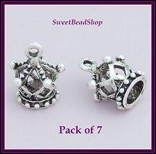7 Antique Silver Colour 18 x 14mm Royal Crown 3D Charms