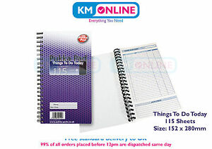 pukka pad things to do today book to do list wirebound 152 x280mm