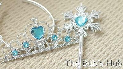 Girls frozen Queen Elsa Costume Party Birthday Tiara wand unique free gift ring