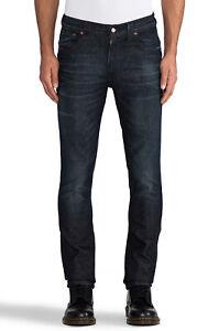 Nudie-Unisex-Herren-Damen-Skinny-Fit-Jeans-Tape-Ted-Nightcrawler-w27-w29