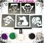 Kit-Para-Tatuar-40-Stencil-Halloween-Brillo-O-Recargas-Stencil-Brillo-Pegamento miniatura 29