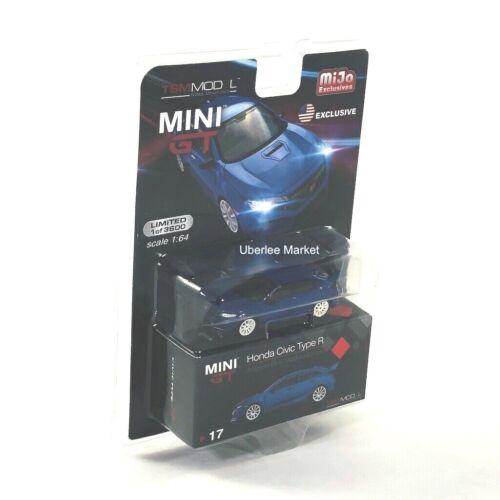 Honda Civic Type R FK8 Modulo Aegean Blue 1:64 Diecast TSM Mini GT MGT00017
