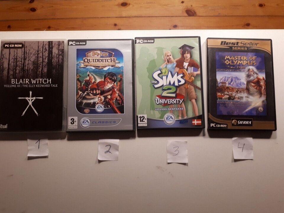 Diverse pc spil, til pc, anden genre