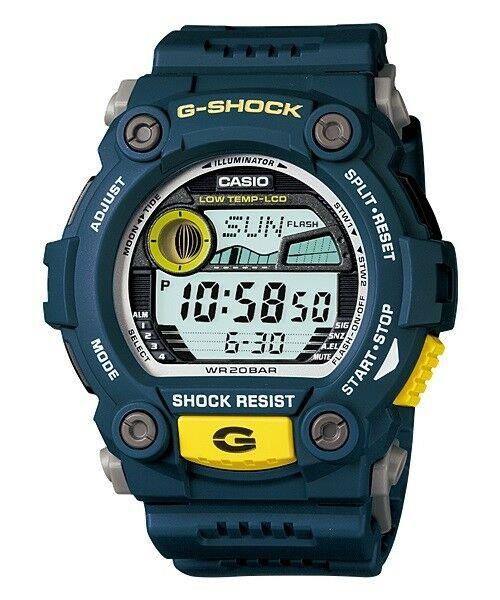 Casio G-Shock Digital Mens Blue Moon Tide Graph Watch G-7900-2 G-7900-2DR