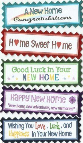 5 Tarjeta de felicitación especial Nuevo Hogar Artesanía Scrapbook sentimiento mensaje Banners