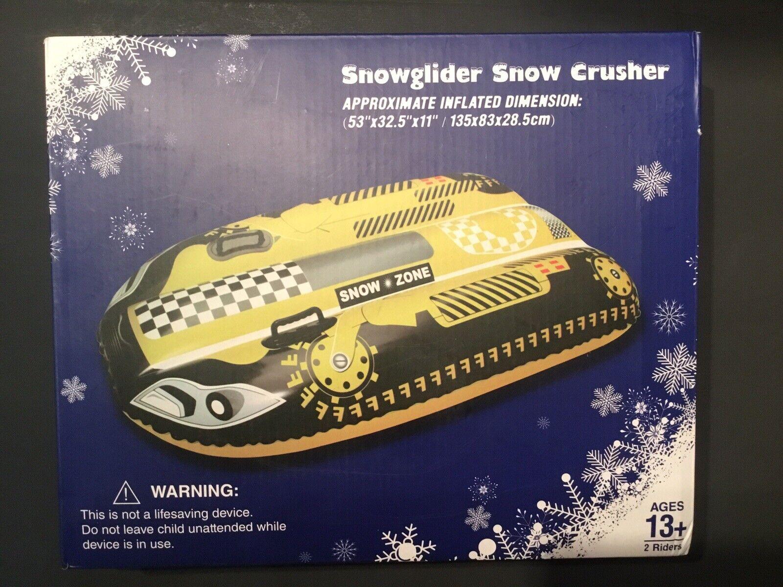 "SnowGlider Snow Crusher Inflatable -Big Kids  Adult 53"" x32.5  x 11 - snowtube"