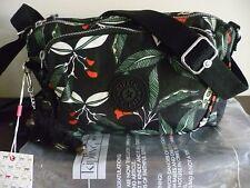 New Kipling  Multi Print Latin Flower ShoulderAcross Body Bag+Fluffy Monkey