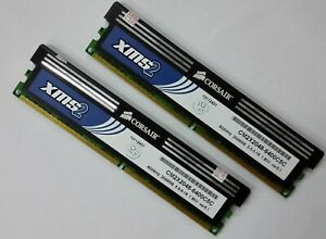 4GB 2x2GB CORSAIR PC2-6400 800MHz XMS2 CM2X2048-6400C5  RAM @@@